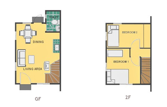 Mikaela Floor Plan House and Lot in Nasugbu