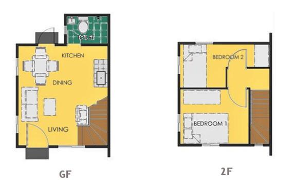 Ravena Floor Plan House and Lot in Nasugbu