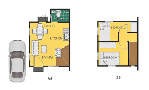 Reva Floor Plan House and Lot in Nasugbu