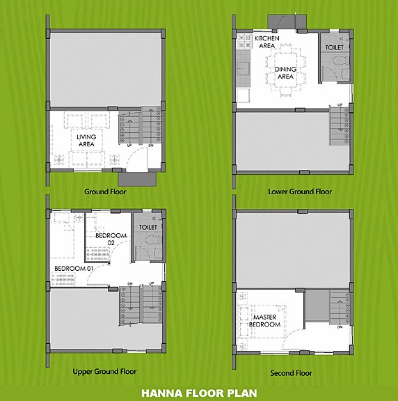 Hanna Floor Plan House and Lot in Nasugbu