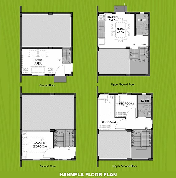 Hannela Floor Plan House and Lot in Nasugbu