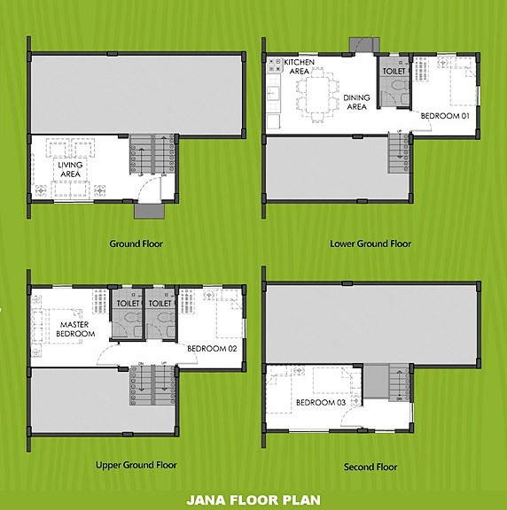 Janna Floor Plan House and Lot in Nasugbu