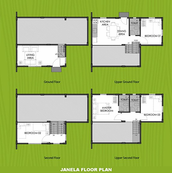 Janela Floor Plan House and Lot in Nasugbu