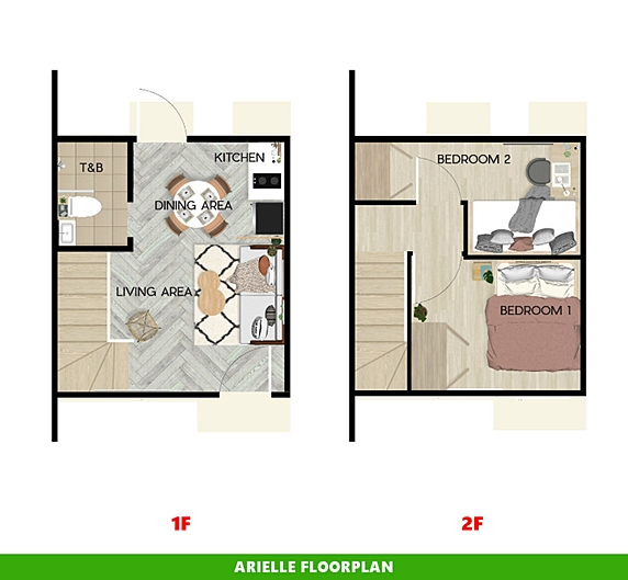 Arielle Floor Plan House and Lot in Nasugbu