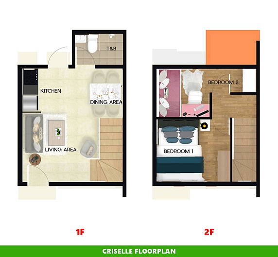 Criselle Floor Plan House and Lot in Nasugbu