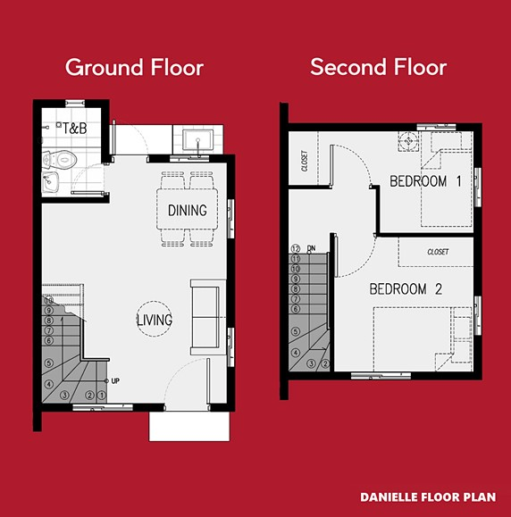 Danielle Floor Plan House and Lot in Nasugbu