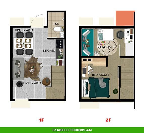 Ezabelle Floor Plan House and Lot in Nasugbu