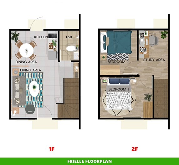 Frielle Floor Plan House and Lot in Nasugbu